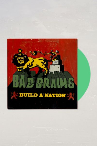 Bad Brains - Build A Nation Limited 10th Anniversary LP - Green One Size at Urban Outfitters