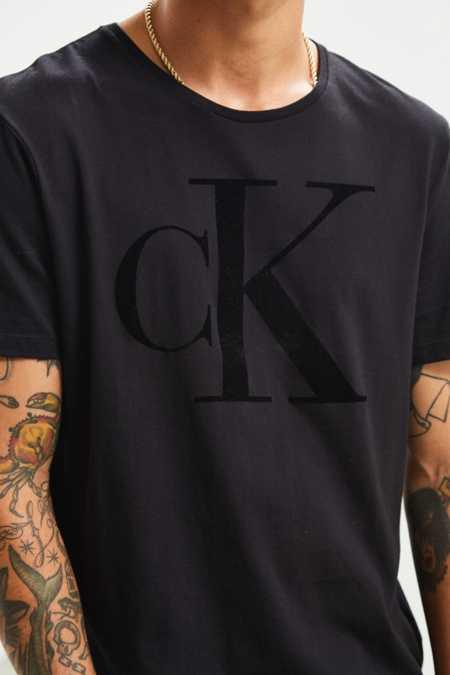 Calvin Klein Tonal Flocked Logo Tee