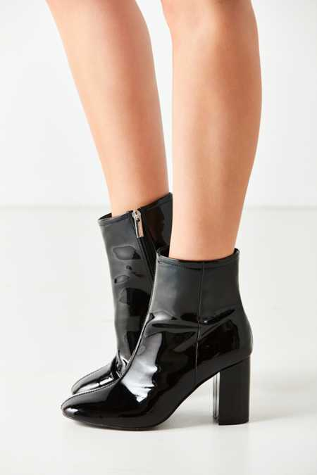 Sloane Seamed Patent Leather Ankle Boot