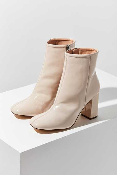 Sloane Seamed Patent Ankle Boot