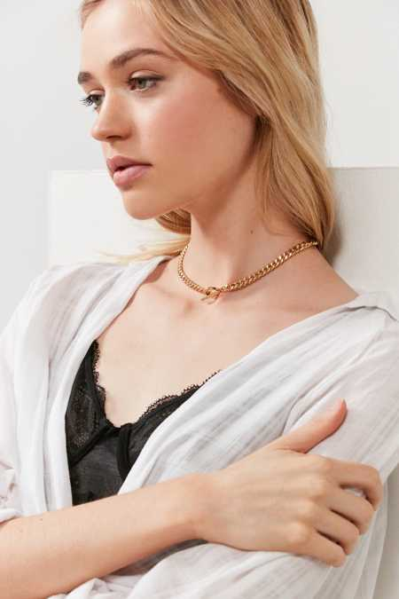 five and two Leah Choker Necklace