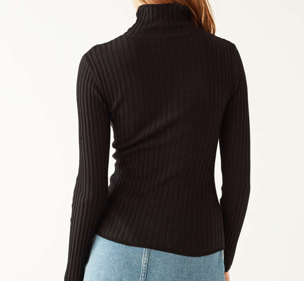Slide View: 2: Silence + Noise Macy Ribbed Knit Turtleneck Sweater