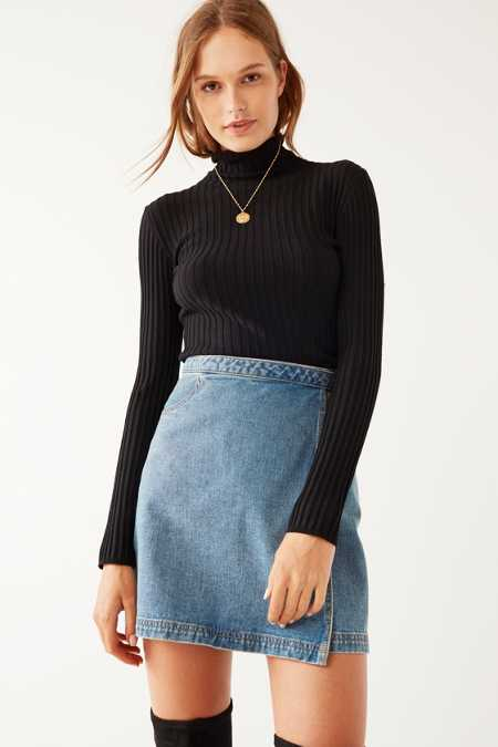 Silence + Noise Macy Ribbed Knit Turtleneck Sweater