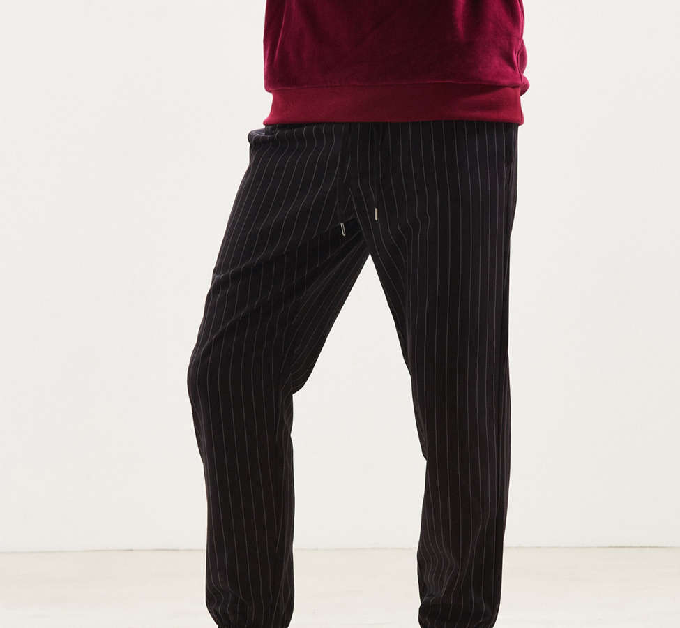 Slide View: 1: UO Asher Pinstripe Jogger Pant