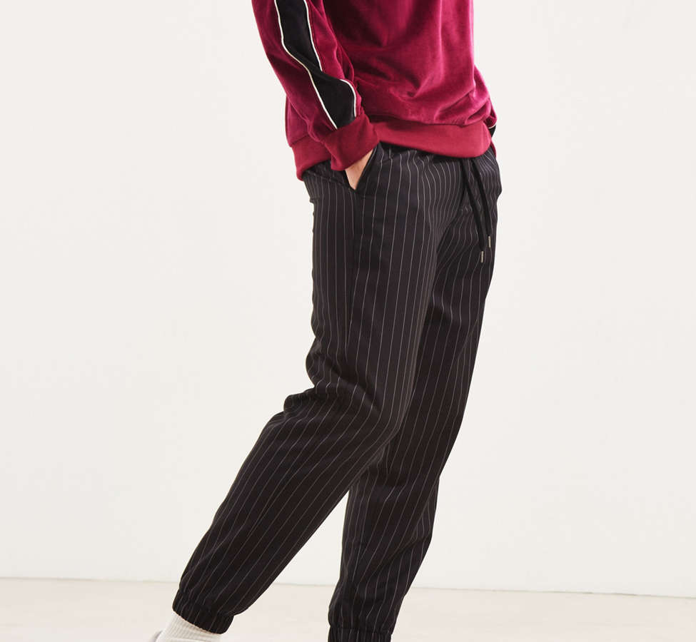 Slide View: 3: UO Asher Pinstripe Jogger Pant