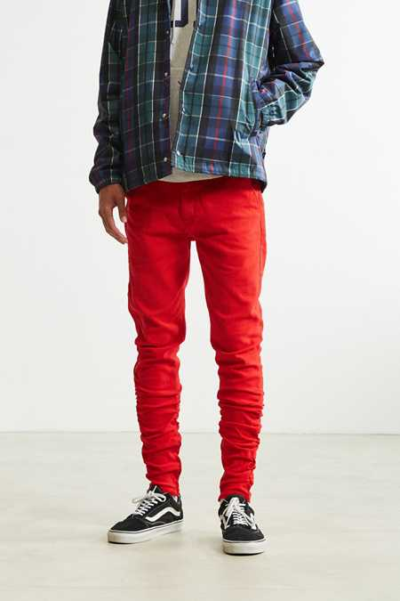 UO Red Skinny Stacked Pant