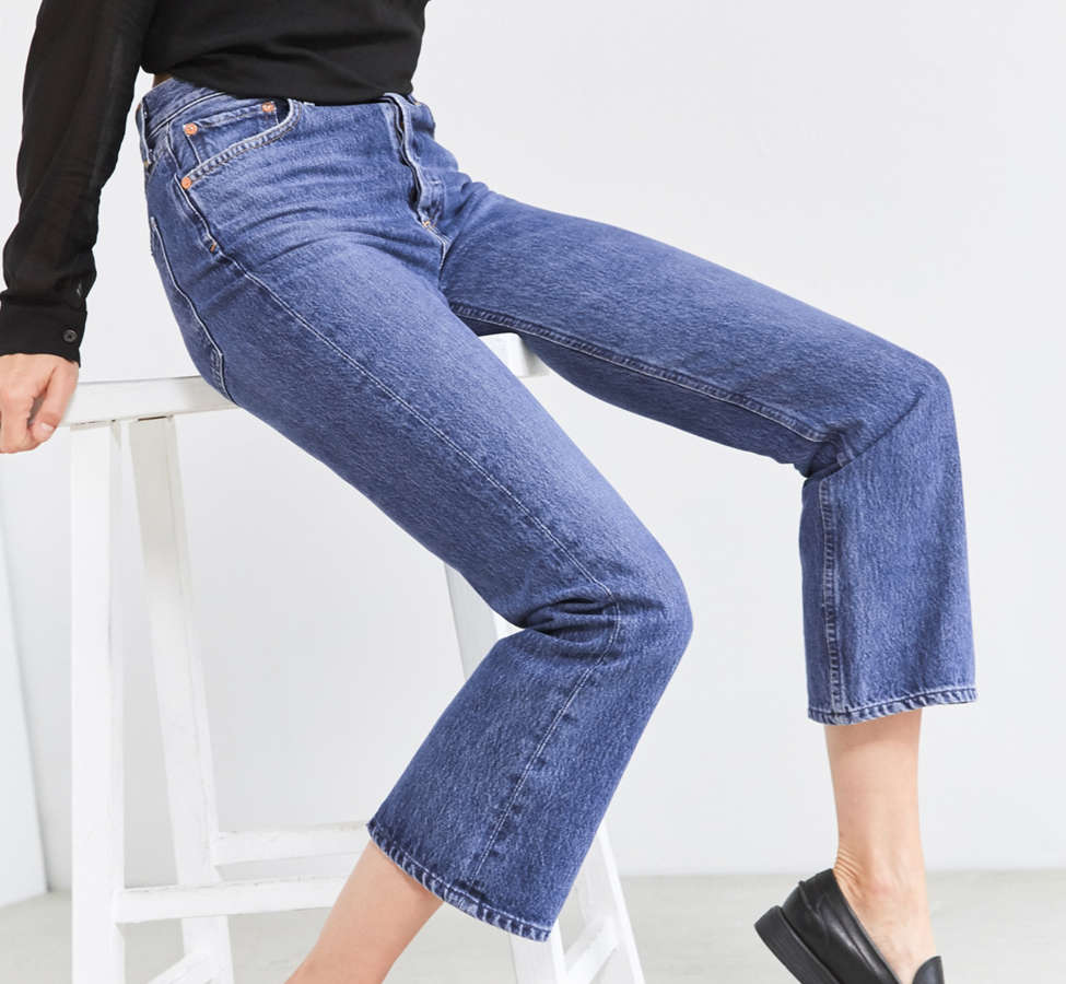 Slide View: 3: AGOLDE Taylor High-Rise Cropped Kick Flare Jean