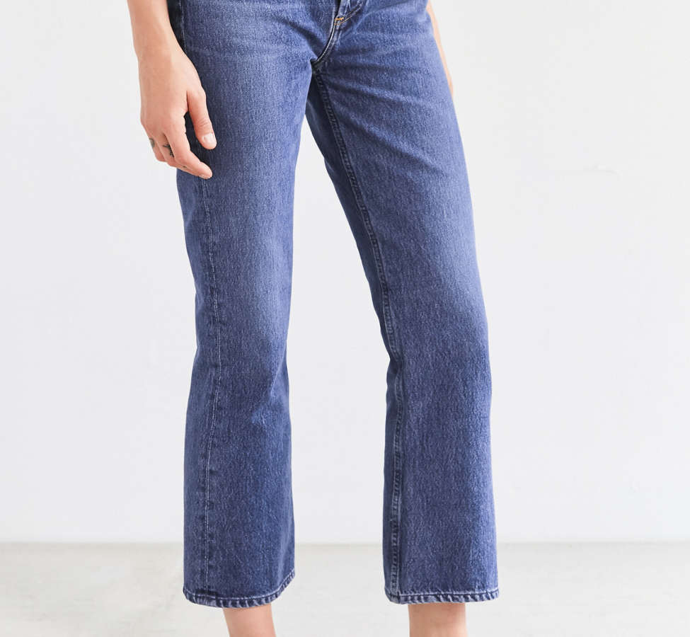 Slide View: 4: AGOLDE Taylor High-Rise Cropped Kick Flare Jean