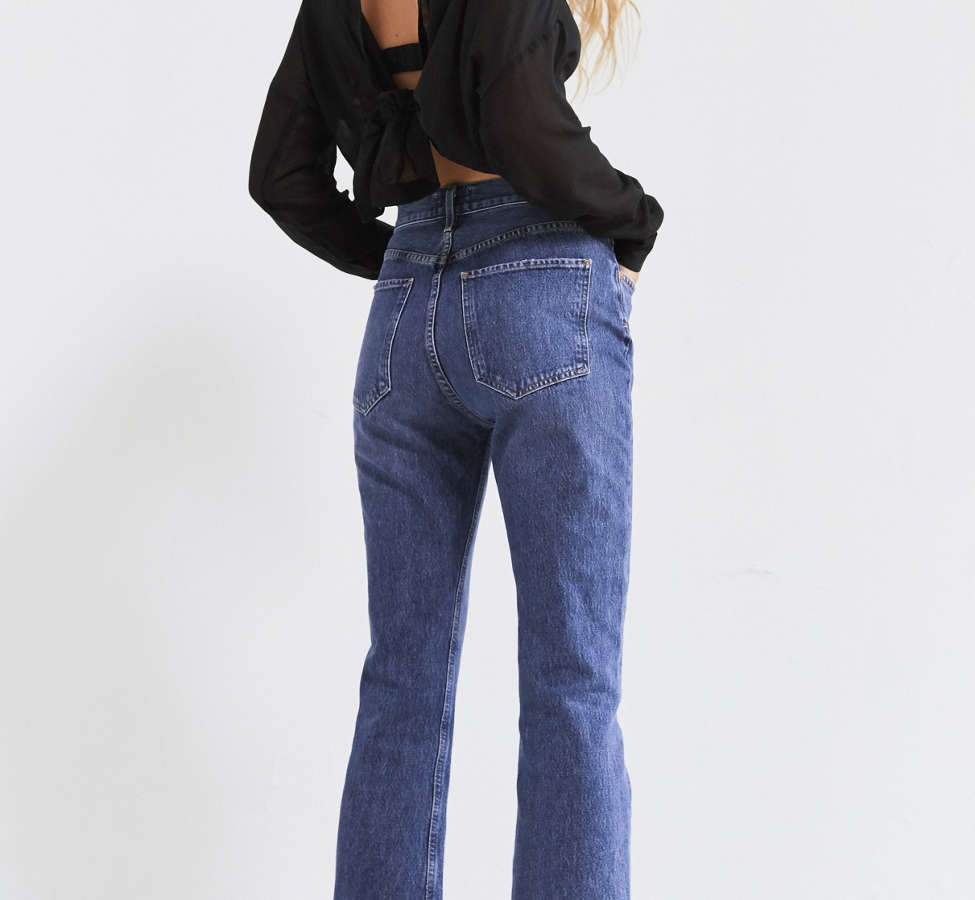 Slide View: 5: AGOLDE Taylor High-Rise Cropped Kick Flare Jean