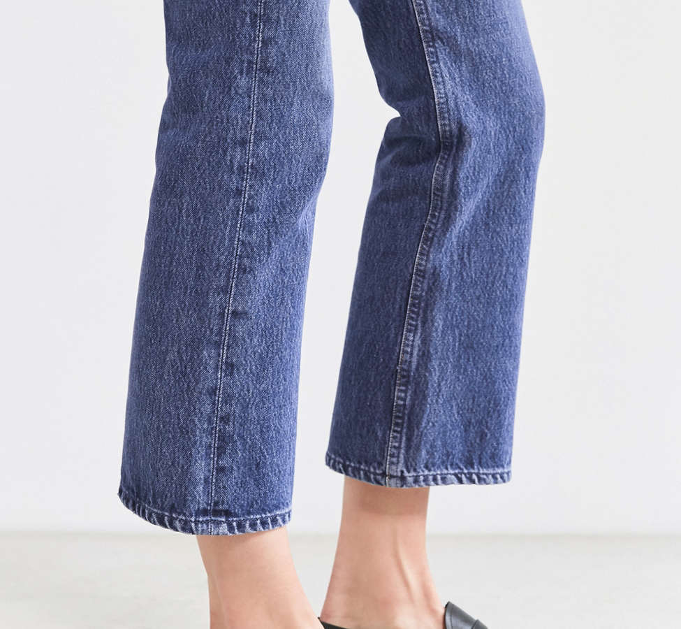Slide View: 6: AGOLDE Taylor High-Rise Cropped Kick Flare Jean