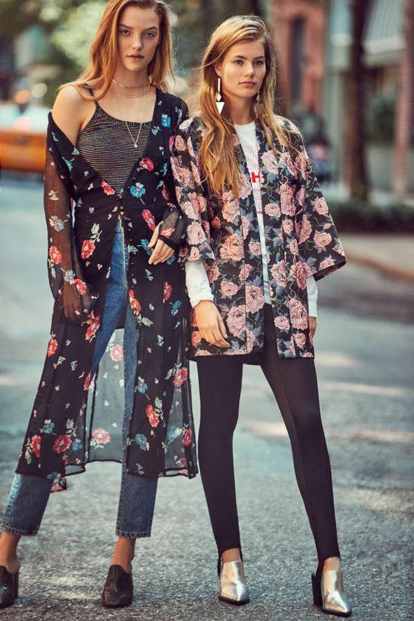 Kimchi Blue Linda Lynn Long-Sleeve Sheer Maxi Dress