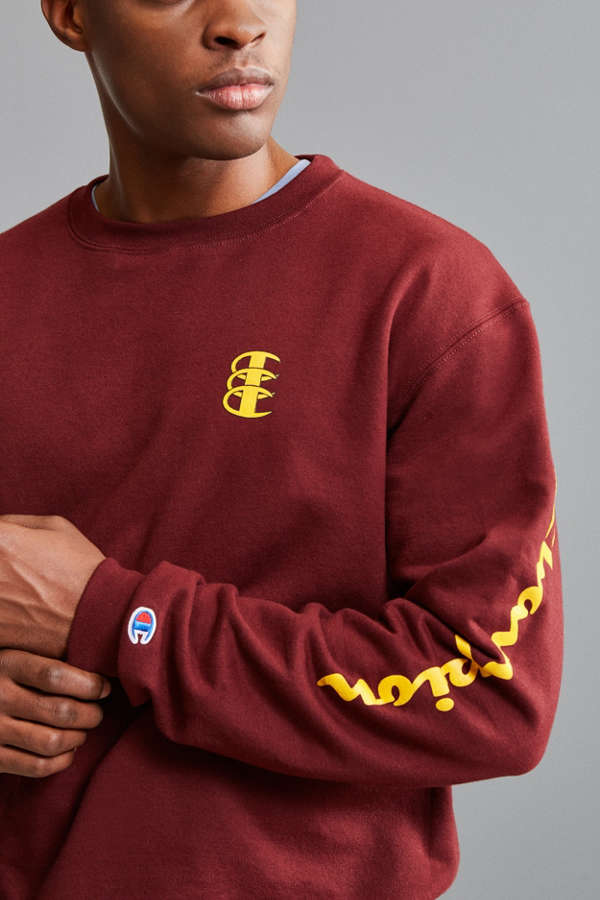 Champion Triple C Fleece Crew Neck Sweatshirt | Urban Outfitters