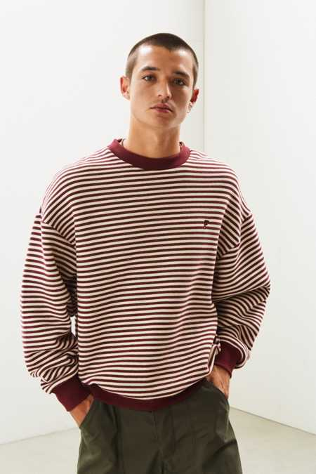 FairPlay Stripe Crew Neck Sweatshirt