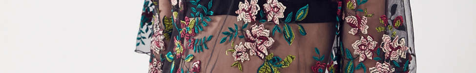 Thumbnail View 2: Kimchi Blue Alana Floral Embroidered Sheer Tee