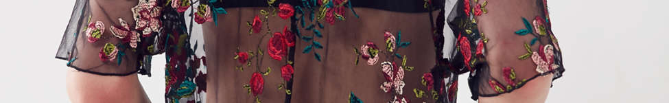 Thumbnail View 3: Kimchi Blue Alana Floral Embroidered Sheer Tee