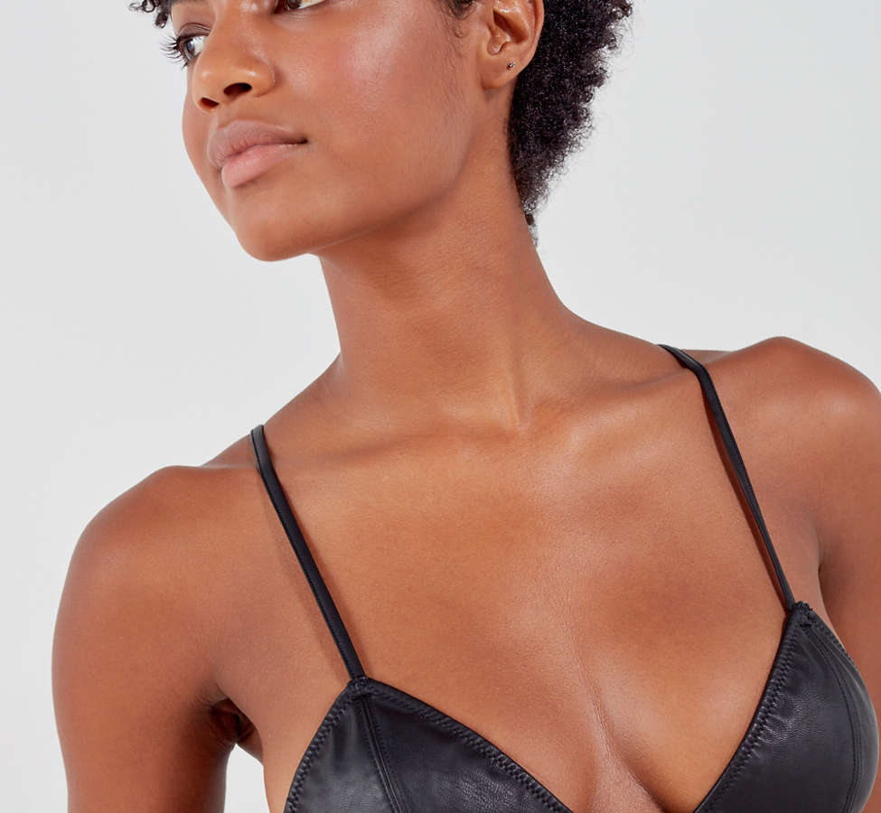 Slide View: 1: Out From Under Leather Up Bralette