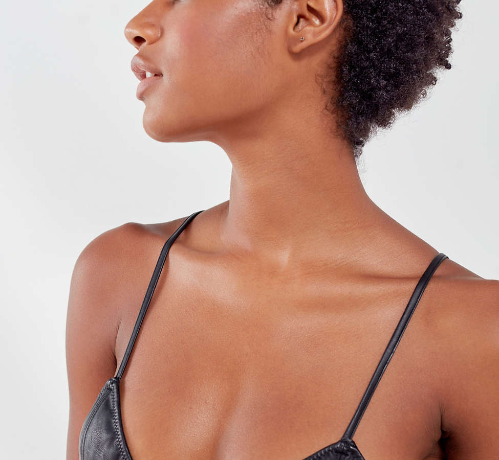Slide View: 6: Out From Under Leather Up Bralette