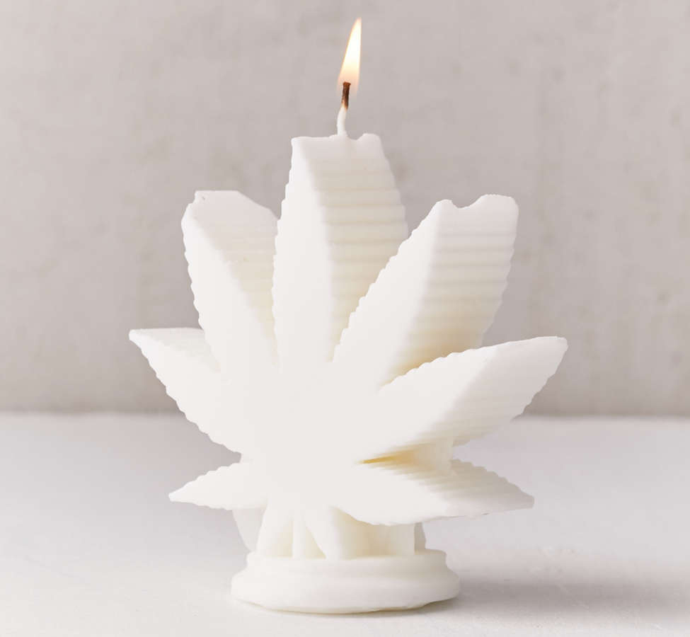 Slide View: 3: WIK Studios Leaf Shaped Candle