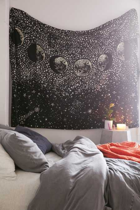 Apartment art room d cor urban outfitters for Space themed tapestry