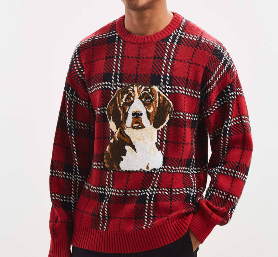 Slide View: 1: UO Tartan Crew Neck Sweater