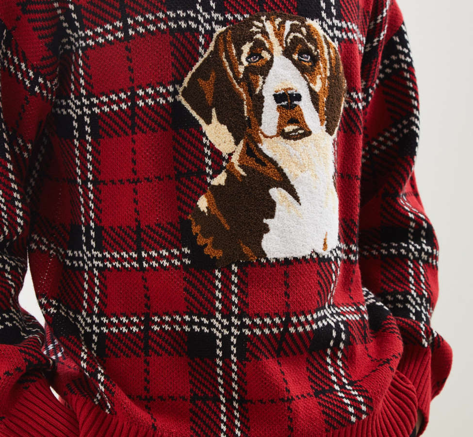 Slide View: 2: UO Tartan Crew Neck Sweater