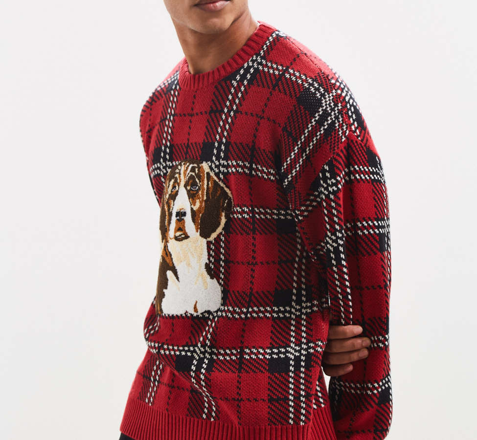 Slide View: 3: UO Tartan Crew Neck Sweater