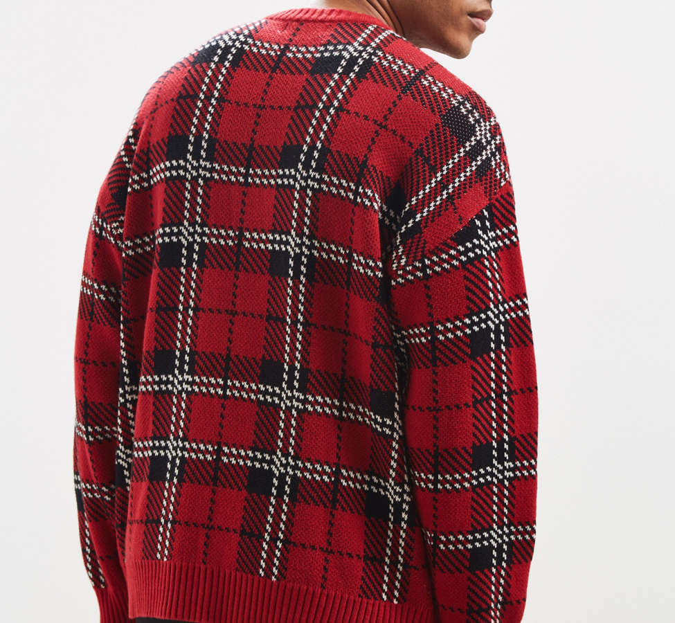 Slide View: 4: UO Tartan Crew Neck Sweater