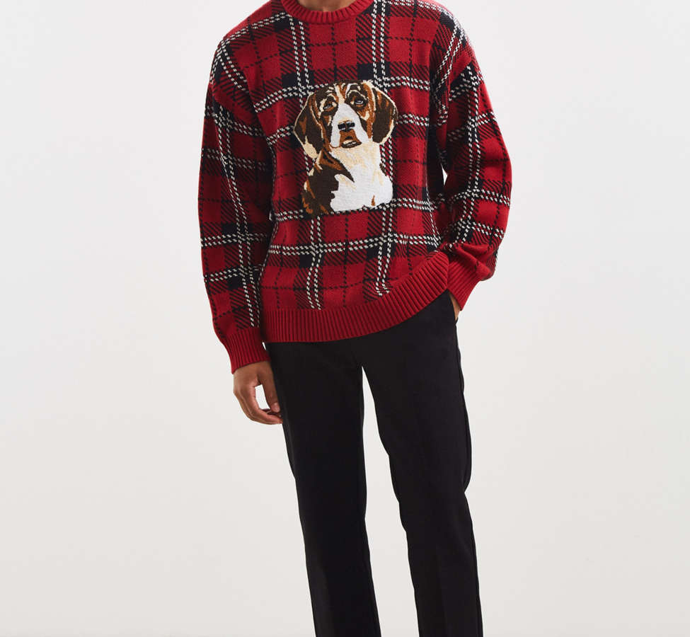 Slide View: 6: UO Tartan Crew Neck Sweater