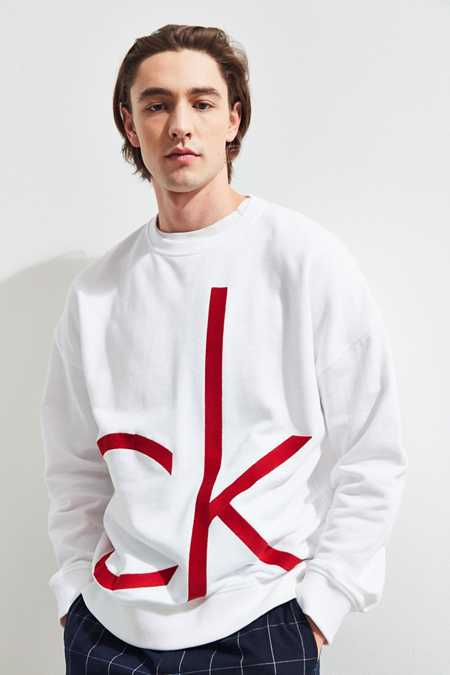 Calvin Klein Embroidered Logo Crew Neck Sweatshirt