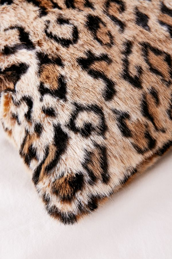 Leopard print faux fur pillow urban outfitters slide view 3 leopard print faux fur pillow thecheapjerseys Gallery