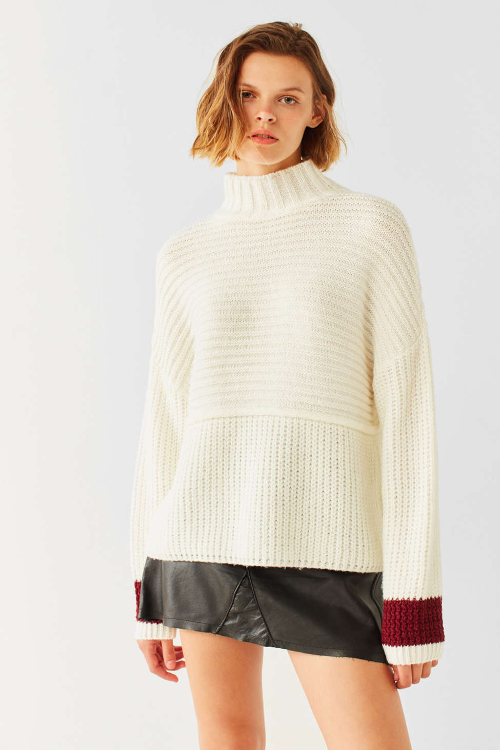 Silence   Noise Ribbed Turtleneck Sweater | Urban Outfitters