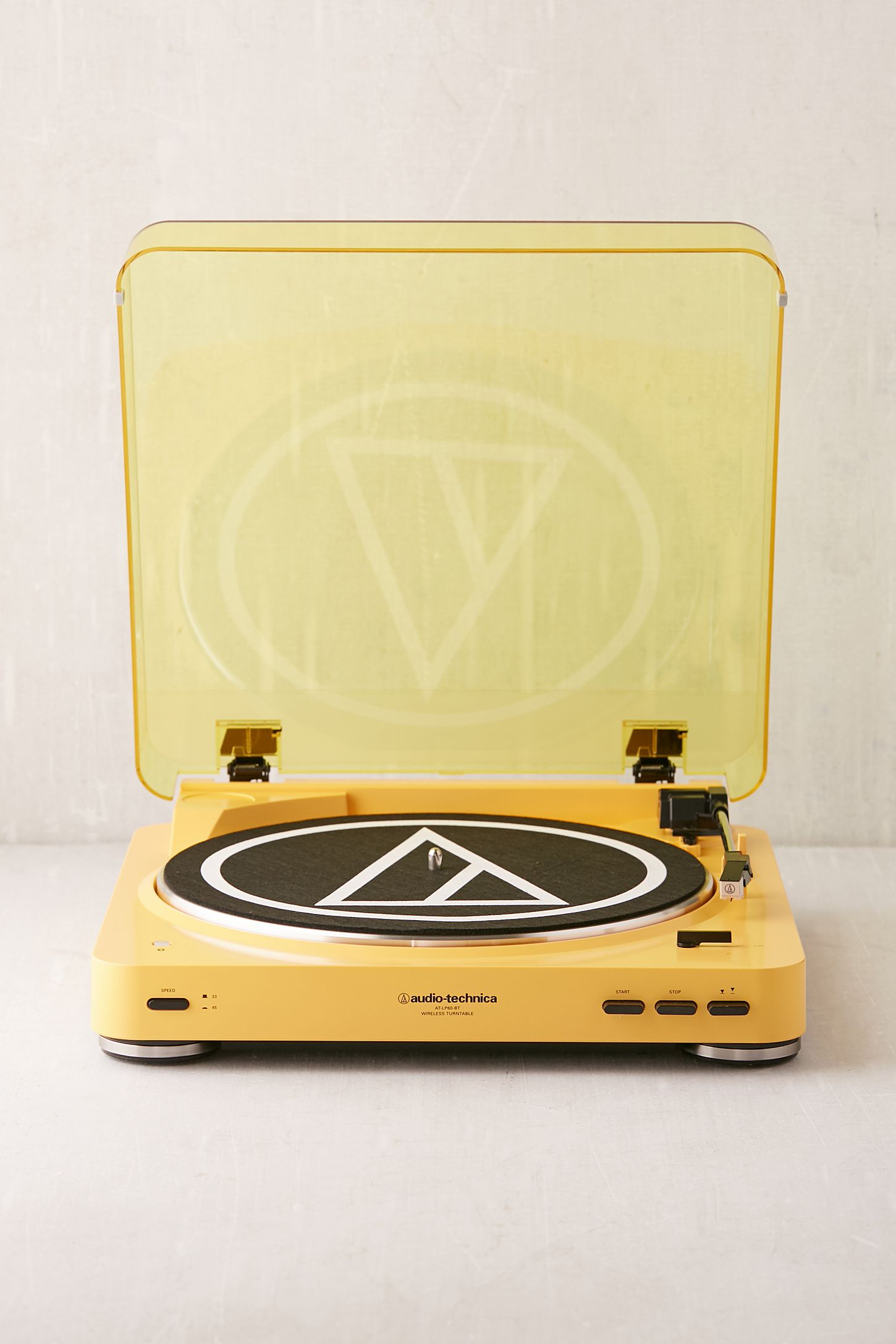 Audio Technica X Uo Mellow Yellow At Lp60 Bluetooth Record Player Fully Automatic Belt Drive Stereo Turntable Double Tap To Zoom