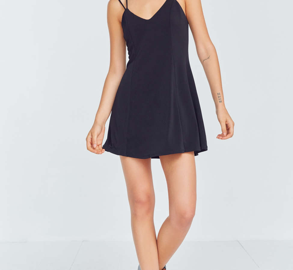 Slide View: 5: Silence + Noise Strappy Low-Back Mini Dress