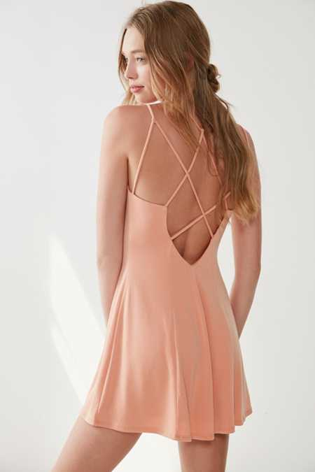 Silence + Noise Strappy Low-Back Mini Dress