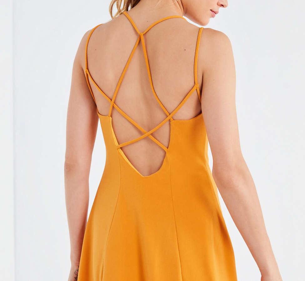Slide View: 1: Silence + Noise Strappy Low-Back Mini Dress