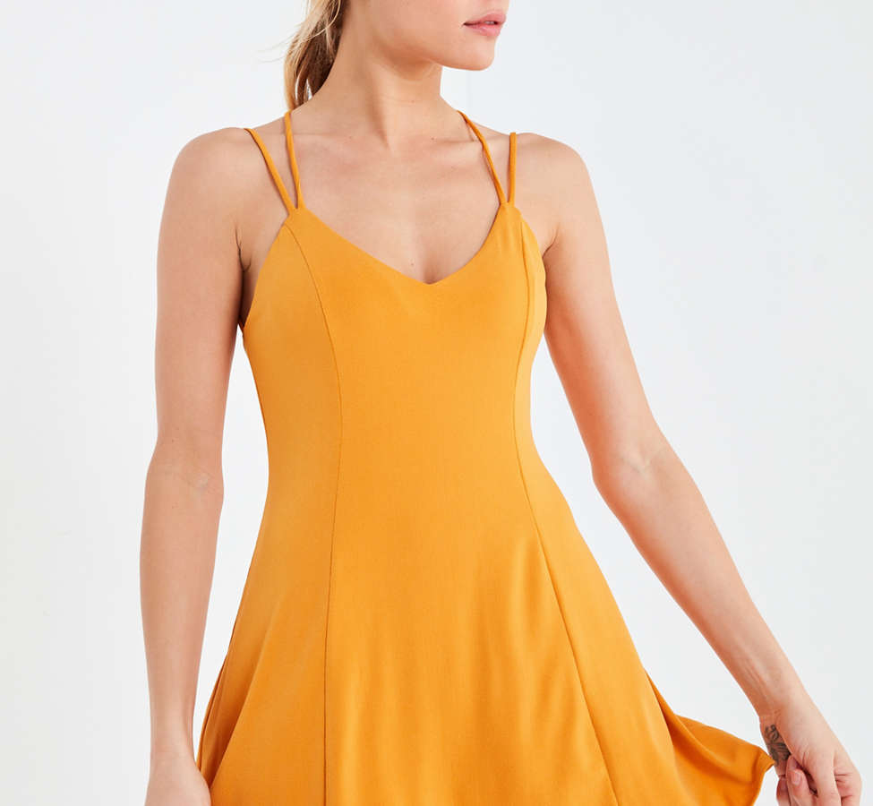 Slide View: 2: Silence + Noise Strappy Low-Back Mini Dress