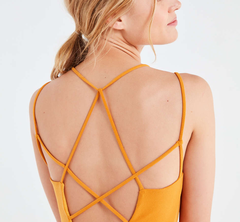Slide View: 3: Silence + Noise Strappy Low-Back Mini Dress