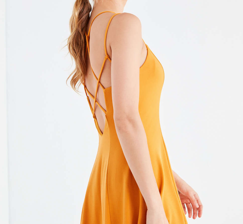 Slide View: 6: Silence + Noise Strappy Low-Back Mini Dress