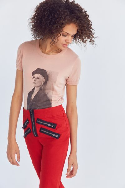 OBEY Debbie Harry Beret Tee - Pink XS at Urban Outfitters