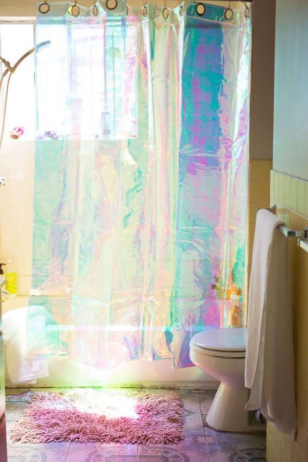Iridescent Shower Curtain Urban Outfitters