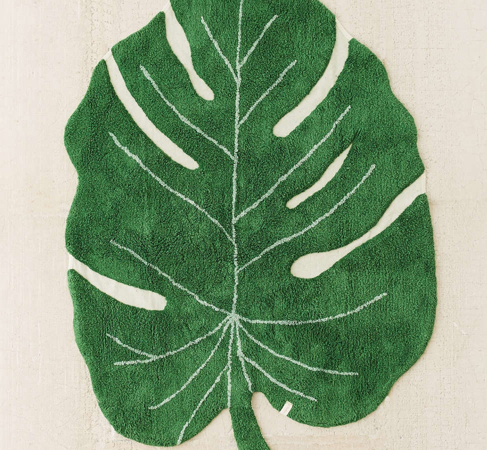 Slide View: 1: Monstera Leaf Washable Rug
