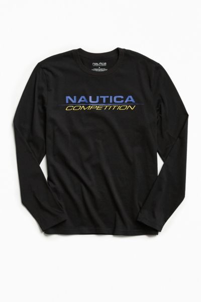 Nautica + UO Competition Long Sleeve Tee - Black S at Urban Outfitters