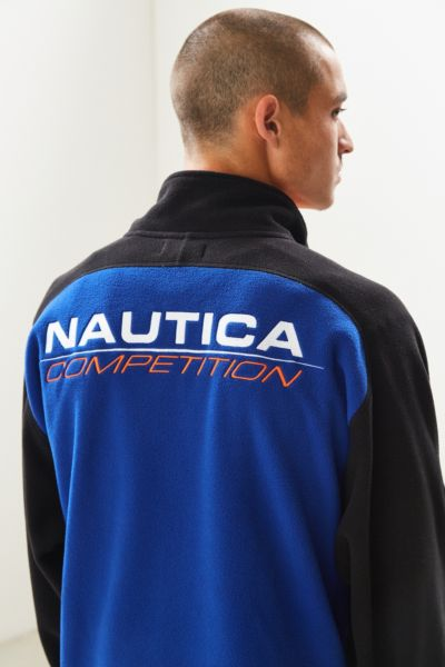 Nautica + UO Polar Fleece Half-Zip Sweatshirt - Blue S at Urban Outfitters
