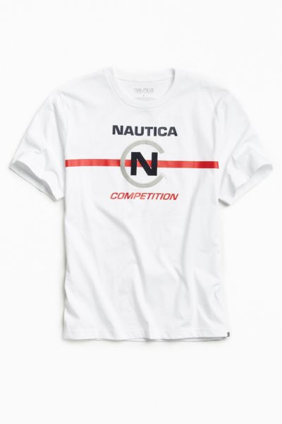 Nautica + UO Competition Tee - White S at Urban Outfitters