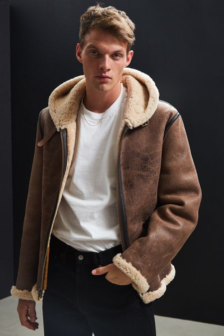 Leather, Suede,   Faux Fur Jackets for Men | Urban Outfitters