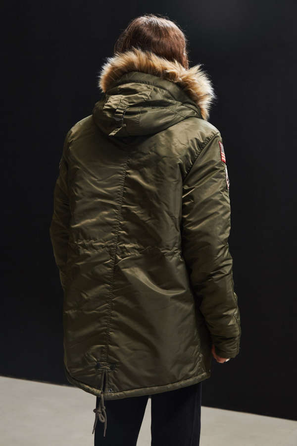 Schott Embellished N-3B Fishtail Parka Jacket | Urban Outfitters