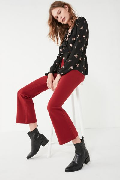 Silence + Noise Lola Ponte Kick Fare Pant - Rust 6 at Urban Outfitters
