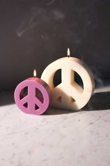 Large Peace Sign Candle