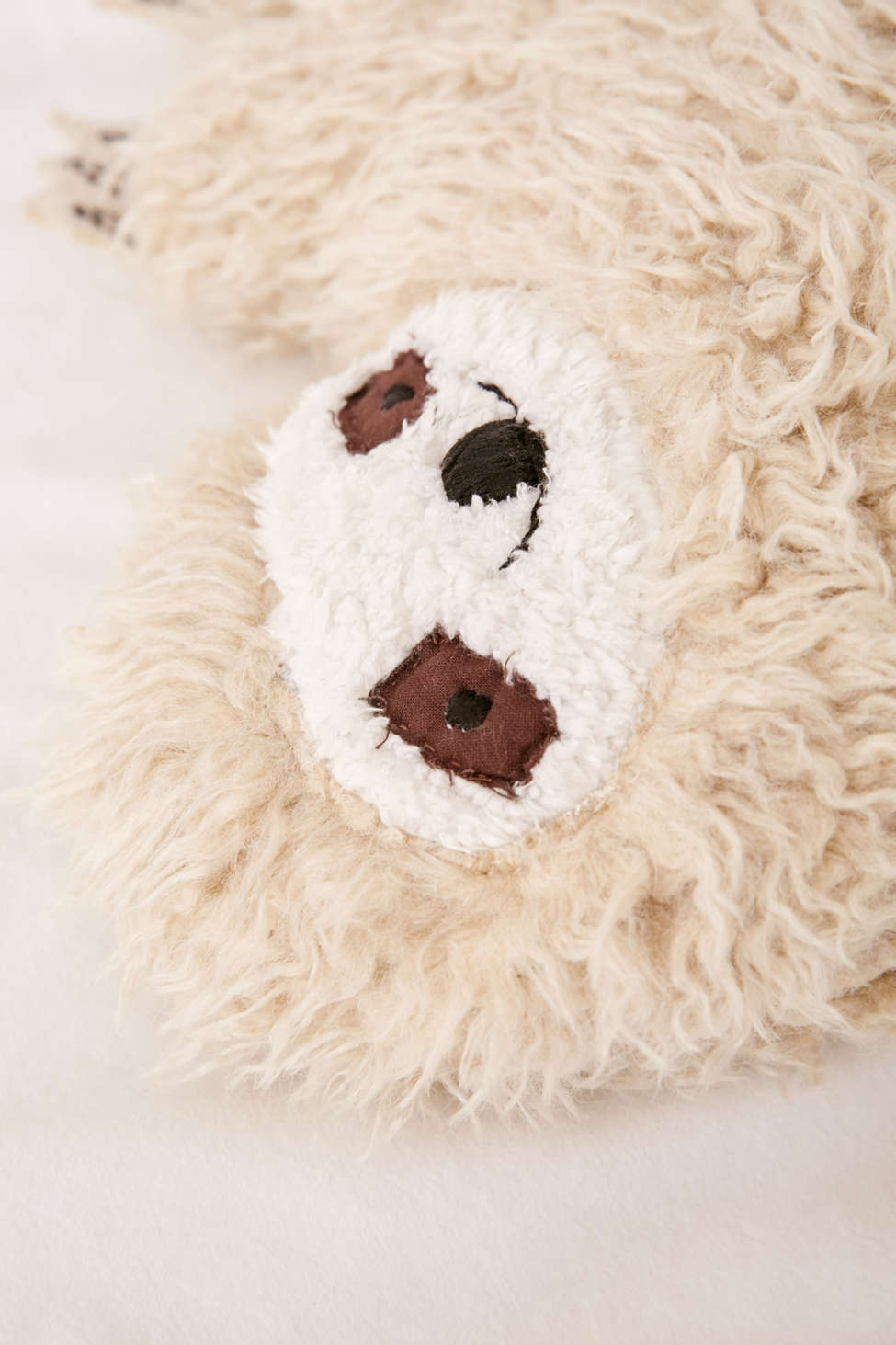 Furry Sloth Pillow Urban Outfitters