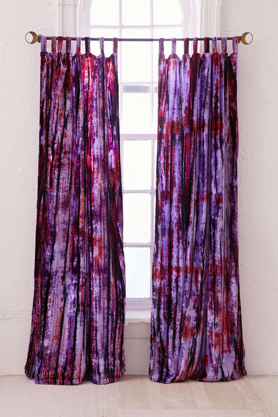 Slide View: 1: Eden Tie-Dyed Velvet Window Curtain